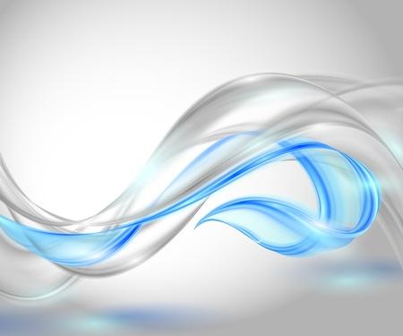 Abstrait arrière-plan gris avec ondulation élément bleu