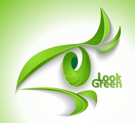 icono ecologico: Eco icono Mira verde - ojo con los latigazos-deja