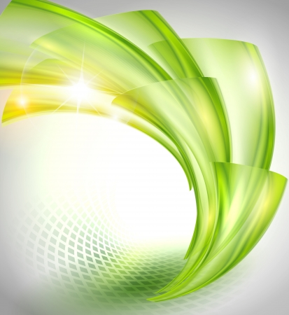 green swirl: Abstract green background