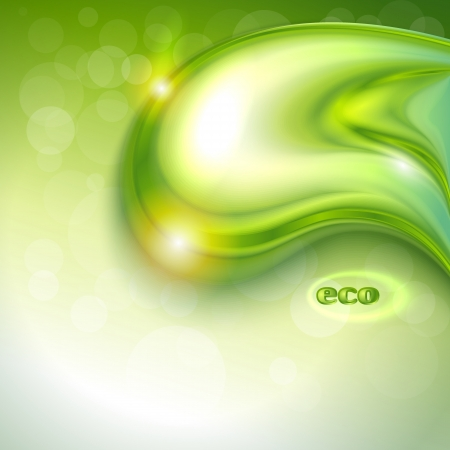 Abstract green background with water drop Vector