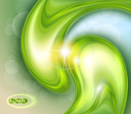 Abstract green background with water drops Vector