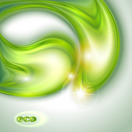 Abstract green background with water drops Stock Vector - 16883917