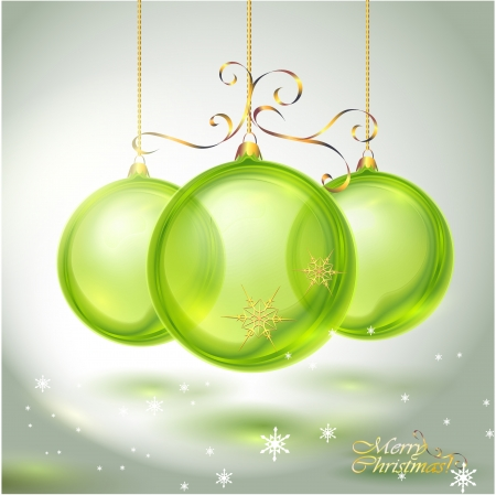 crystal clear: Transparent green glass Christmas Ball