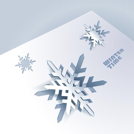 fiambres: Fondo con los copos de nieve de papel