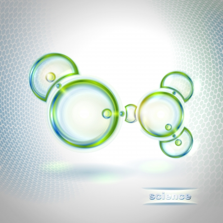 Abstract background with organic molecule Stock Vector - 17275885
