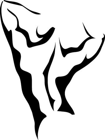 desnudo masculino: Sketch de espalda atlético mans