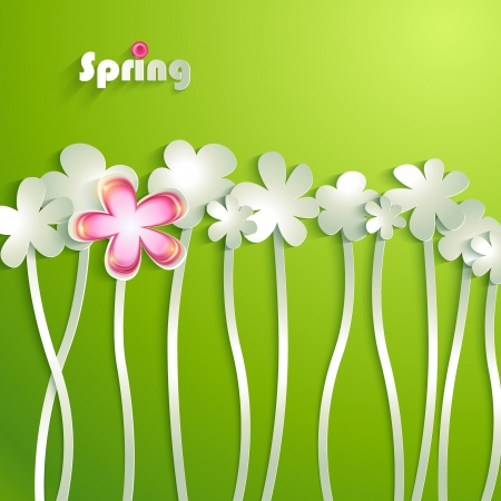 spring background: Abstract paper Flowers