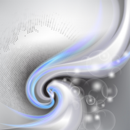 smooth curve design: Abstract gray background with blue element Illustration