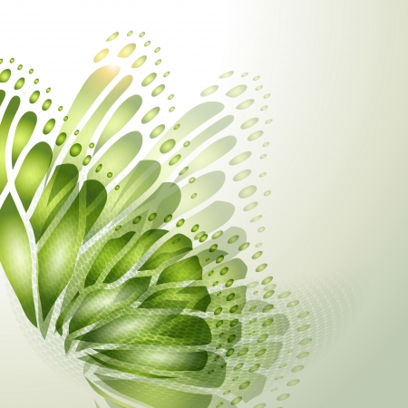 green butterfly: Abstract background with green butterfly