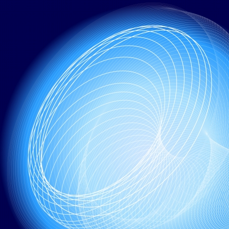 Abstract blue background with circles Vector
