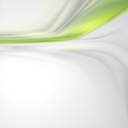 Grey soft abstract background with green element Vector