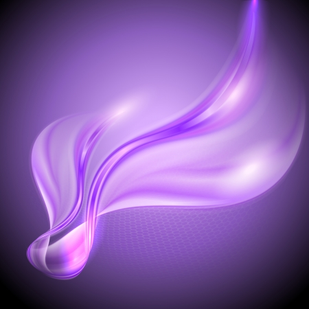抽象的な背景が紫色手を振っています。