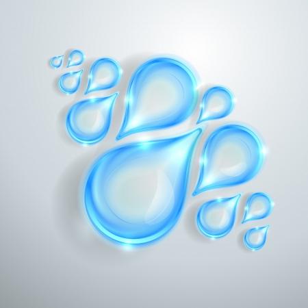 lacrime: Blue water drops lucido
