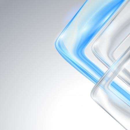 青の要素を持つ灰色の抽象的な背景  イラスト・ベクター素材