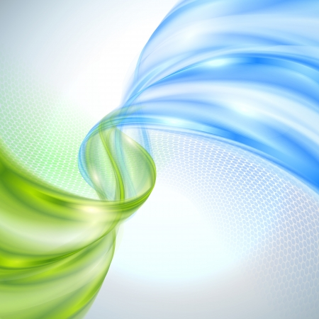 Abstract green and blue wave background photo