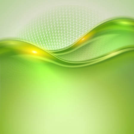 green  wave: Abstract green waving background