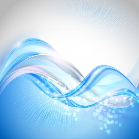 reflectie water: Abstracte Blauwe golvende Achtergrond