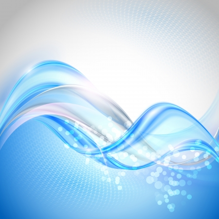 swirl backgrounds: Astratto Sfondo blu sventolando