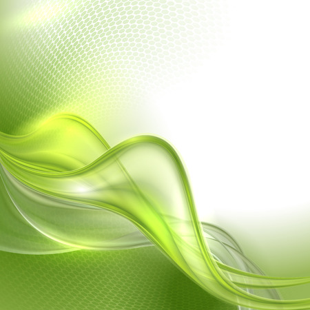 Abstract green waving background Stock Vector - 24386287