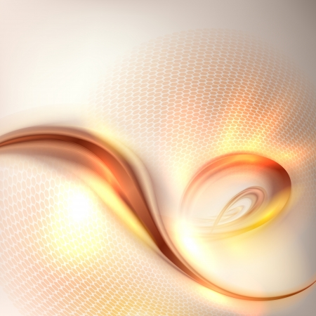 brown swirl: Abstract golden swirl background