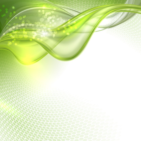 Abstract green waving background Vector