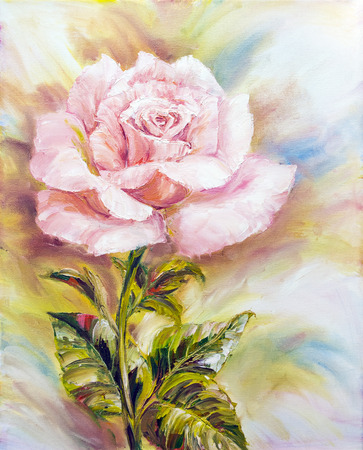 Beautiful Rose, oil painting on canvas photo