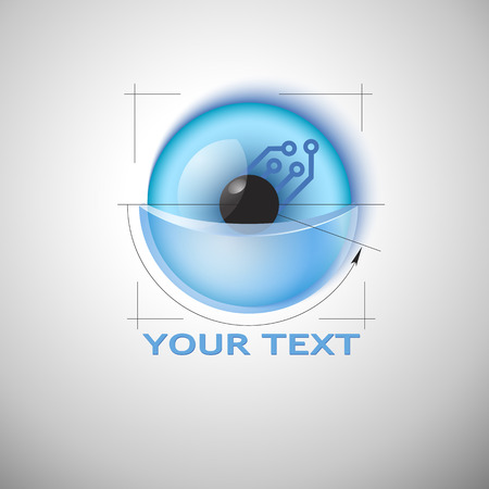 nanotechnology: Sci-fi sign template  Vector  Editable  Business Icon Illustration