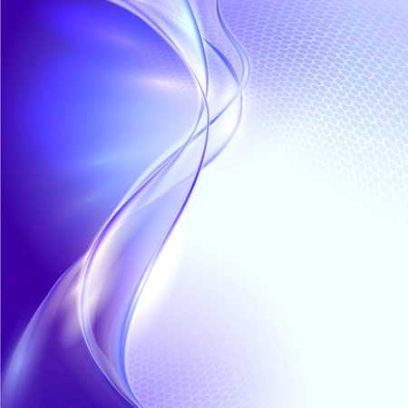 Abstract blue waving background Illustration