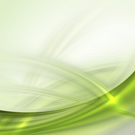 Abstract green waving background with place for text Vector
