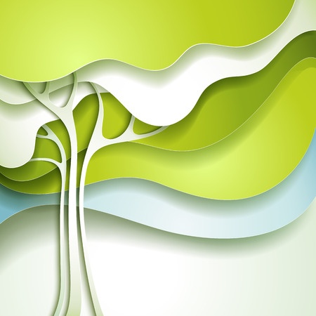 stylised: Abstract spring tree