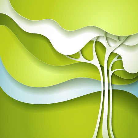 organic background: Abstract spring tree