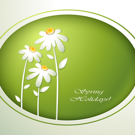 women s day: Spring flowers invitation template card