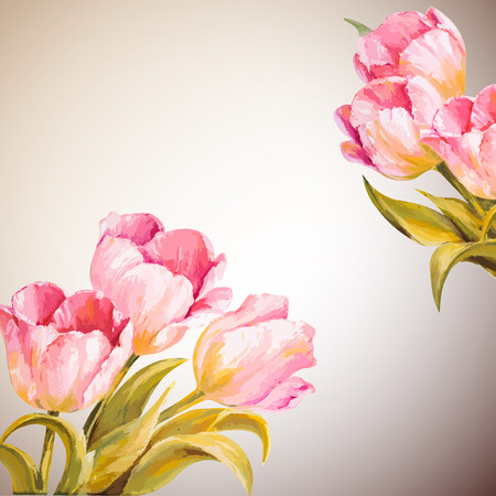 8 march: 8 March. Tulips. Spring flowers invitation template card