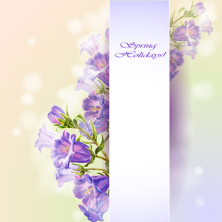 women s day: Spring flowers invitation template card Illustration