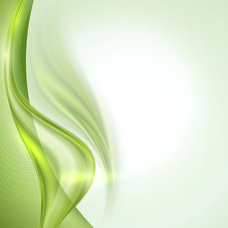 抽象的な背景が緑を振って  イラスト・ベクター素材