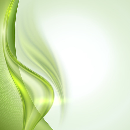 abstract swirls: Abstract green waving background