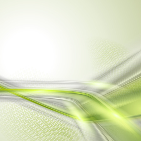 Gray soft abstract background with green element Illustration