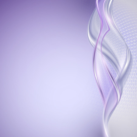 Abstract purple wave background Illustration