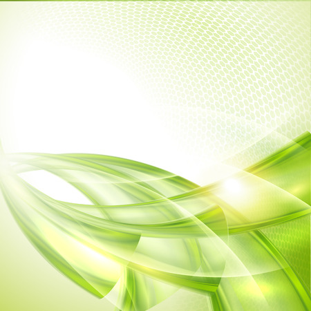 green environment: Abstract green wave background Illustration