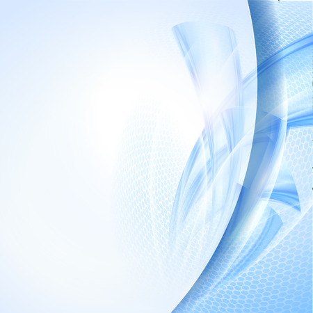 bright future: Abstract blue wave background