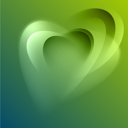 Green abstract background with light lines and shadows   Vector