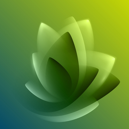smooth shadow: Green abstract background with light lines and shadows