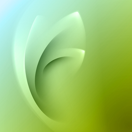 flower power: Green abstract background with light lines and shadows