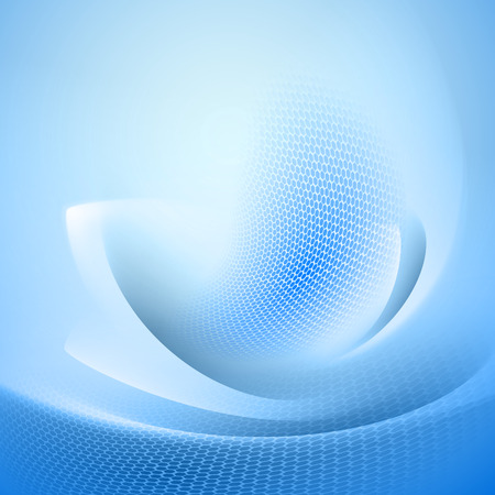 Blue abstract background with light lines and shadows   Vector