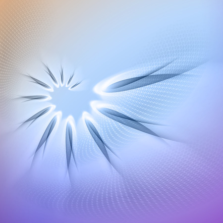 Blue and purple abstract background with  light lines  and shadows