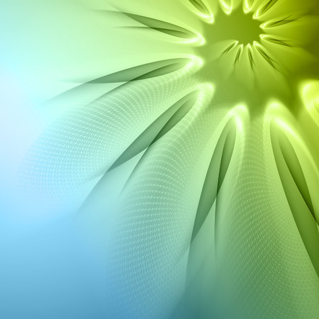smooth shadow: Green abstract background with  light lines  and shadows   Illustration