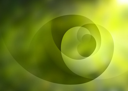 smooth background: Green abstract blurred background with light lines and shadows.