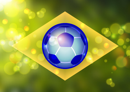 Color background in Brazil flag concept Vector