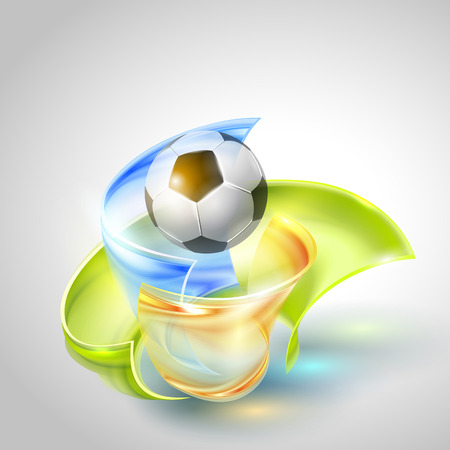 bannière football: Football Vector Design