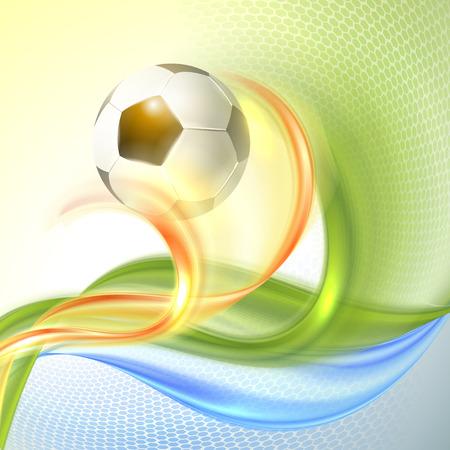 bannière football: Creative Football Vector Design